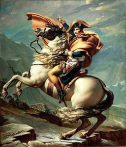A painting of Napoleon