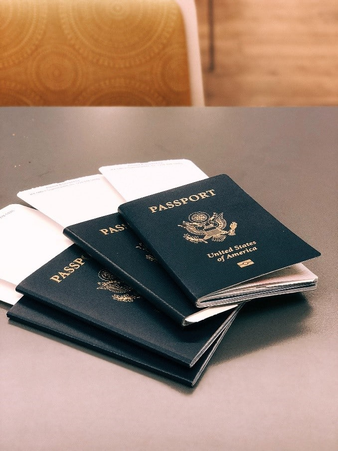 A stack of passports, symbolizing how to plan an international move